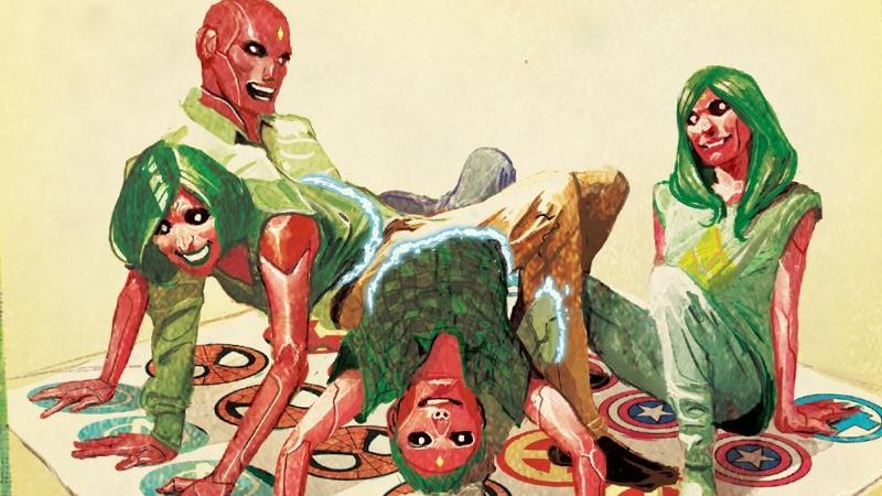 Toute la famille joue à Twister